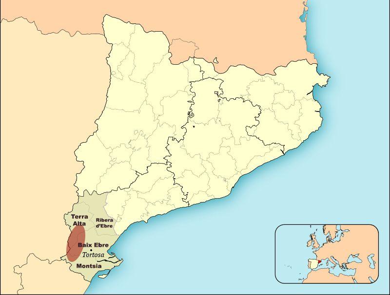 Situació Terres Ebre i Els Ports