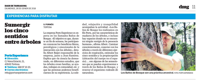 Retall de prensa ports experience al diari de tarragona